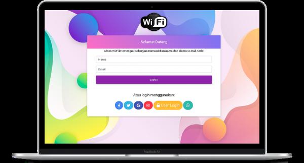 Aplikasi Login wifi dengan social media
