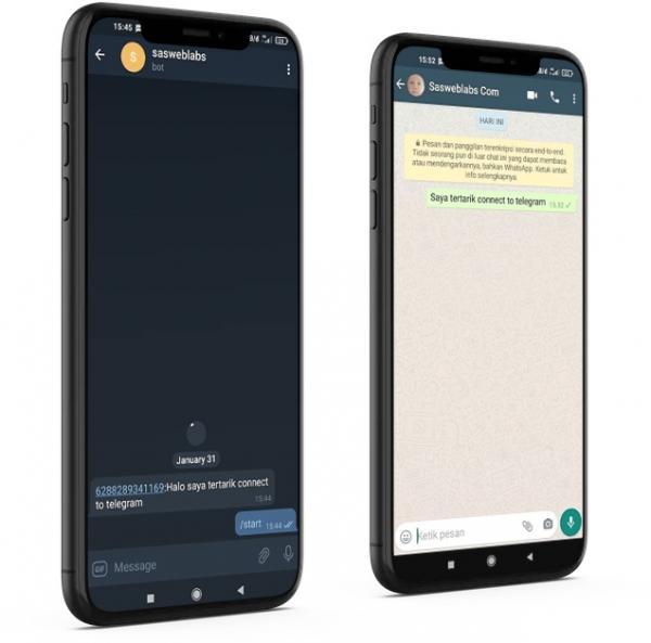 Menguhubungkan whatsapp dan telegram dengan whatsapp api